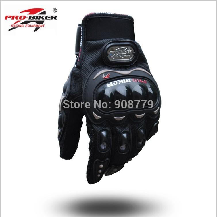 Free Shipping Brand New Pro-Biker Motorcycle Motocross Racing Gloves Black Guaranteed 100%(China (Mainland))