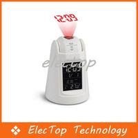 Free shipping Sound Control Sensor Talking Projection Alarm Clock 20pcs/lot Wholesale