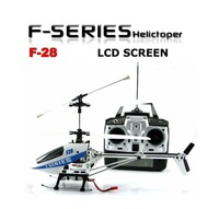 Free Shipping MJX F28 Gyro Electric 4CH Metal 3D Flight LCD Screen F Series 4 Channel RC Helicopter