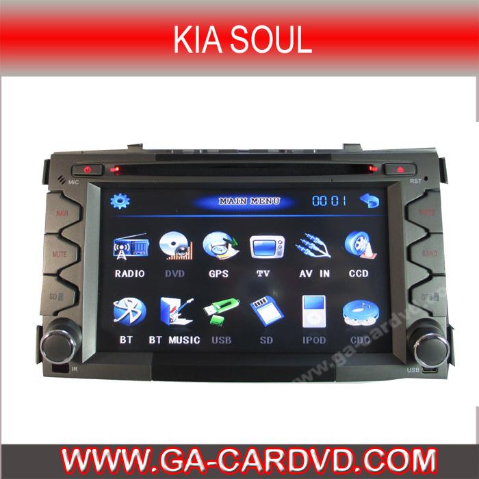7 inch digital TFT Integrative Car DVD player For KIA SOUL with GPS bluetooth Ipod steering wheel control (GA-7858)(China (Mainland))
