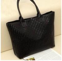 Selling Women Pu Leather Handbag,tote Shoulder Bags, Large Capacity Pu Weave Bags ,fashion Design Wholesale
