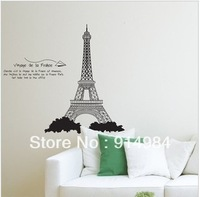 Free shipping Pairs tower parlour dedroom decoration Sofa TV backgroung can remove Wall sticker 50*70cm