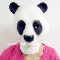 Creepy Cute Panda Horse Mask Head Halloween Mask, Cosplay Animal Mask