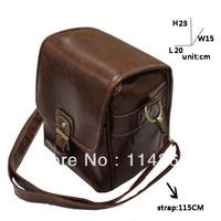 Korea vintage style PU digital leather camera bags-FREE SHIPPING