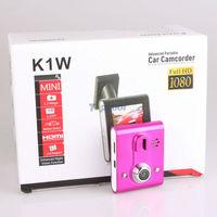 Mini HD Car DVR camera K1W Vehicle black box with 140 Degree Viewing Angle 1920*1080P IR Night Vision 3 colors mini dvr camera