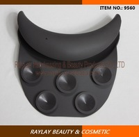 Salon shampoo durable black silicone gel neck rest cushion for any shampoo bowls