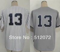 New York #13 Alex Rodriguez Men's Authentic Cool Base Home White/Road Grey Baseball Jersey