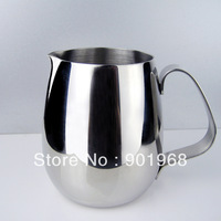 Hot sell 12sets 350ml stainless steel Latte milk jug+ stainless steel latte needle-latte coffee tool set