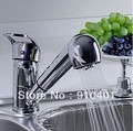 Free shipping! pull out kitchen faucet sink spray mixer solid brass body single handle tap RZ-2002