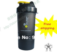 Free Shipping+The Nnew Wizard Multifunctional Protein Powder Shaker Bottle, Smart Shaker 3 Layers+600ml