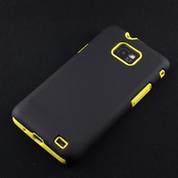 Black PC Shell+Colorful Silicone Hybrid Case for Samsung Galaxy S2 i9100,100pcs/lot,High Quality,Free Shipping