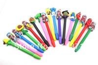 Plants Vs Zombies Craft Pen  Ball Pen Kids Gift Craft  Spider-man  SpongeBob SquarePants  Polymer Clay Ball pen Christmas