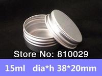 Free Shipping Wholesale 100pcs/lot 15ml Aluminum Case 15g Round Matte Aluminum Can Aluminum Container  Tea Tin