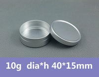 Free Shipping 100pcs/lot 10g Matte Aluminum Case 10ml Metal Container Cosmetic packaging Alumite Box