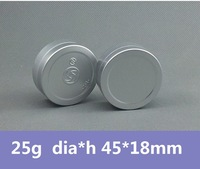 Free Shipping 100pcs/lot 25g Mat Aluminum Can Aluminum Bottle Aluminum Jar Cosmetic Packaging Metal Box