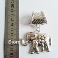 Fashion  vintage silver alloy jewelled necklace Scarf elephant Pendant charm Accessories, original factory supply