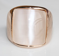 Min.order is$10(mix order) Fashion Wide Shell Band 18K Gold Plated NickelFree Health Jewelry Exaggerated Ring Wedding Rings R286