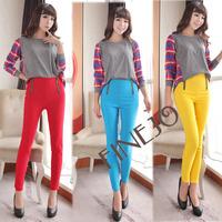 Fashion Women's  Double Zipper Front Pants High Waist Skinny Slim Dress Leggings Trousers Free shipping 8068