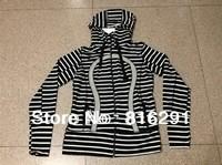 lulu hoodies scuba Lady Sport Jacket yoga wear coat Women sweater fashionable popular white black stripe clothing clothes