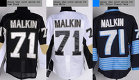 Pittsburgh #71 Evgeni Malkin Men's Authentic Home Black/Road White/2011 Winter Classic Navy Hockey Jersey