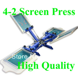 FAST and FREE shipping discount 4 color 2 station silk screen printing machine t-shirt printer press equipment carousel(China (Mainland))