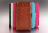 Luxury For iphone 5 5s Wallet Leather Case Card Holder Stand Design 6 Colors Available For iPhone5 Free Shipping