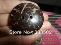 38mm oversized natural coconut shell button Free Shipping sweater button
