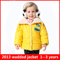 Free shipping 2014 Children's clothing winter new arrival baby outerwear  female child wadded jacket