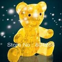 Novelty Creative puzzle educational toys Crystal Jigsaw 3D Huggy Bear crystal puzzle Free Shipping