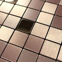 Stainless steel tile deco mesh metal aluminum composite panel mosaic art pattern kitchen backsplash walls bathroom shower design