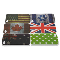 30pcs USA  United States  Unique Retro National Back Hard  Back Cover case for iphone 4 4G 4s