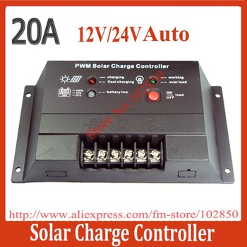 Led display 20A PWM solar Charge Controller CM2024,12/24V Auto work Solar Panel Charge Regulator Controllers