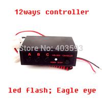 FREE SHIPPING 12 Ways LED Light Flasher Flash Strobe Controller Box