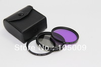 58mm 58 mm UV + FLD + CPL Lens Filter Protector for canon nikon pentax sony dslr camera