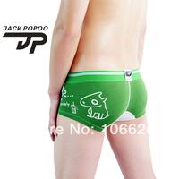 #013 Free shipping 2pcs/lot Jackpopoo cartoon lycra cotton U bag men's shorts trunks