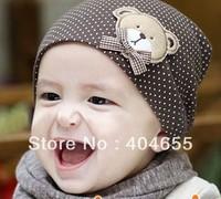 FREE SHIP New Baby Kids hat cartoon bear Unisex Beanie Spring Autumn Children animal caps Merry Christmas