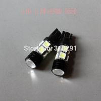 Wholesale 100pcs/lot white T10 194 168 192 W5W 1W+8smd 5050  super bright Auto led car lights with lens