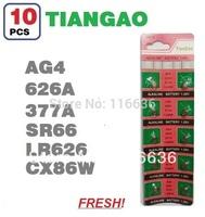 10x AG4 LR66 SR66 377 376 LR626 SR626 626 CX86W TIANGAO Cell Button Batteries Alkaline men ladies childre watches wholesale LOT