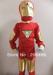 Halloween Party costumes 4- 8 years boy's three-piece Iron man Role-playing kids cosplay,kid GHOST cosplay(China (Mainland))