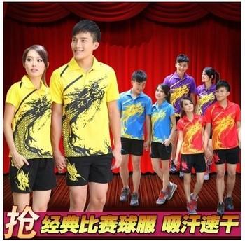 Best quality  a set li ning womens or Men's table tennis shirt+shorts pingpong shirt table tennis 003
