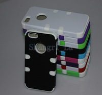 shockproof case for iphone 5 silicone with hard back for iphone 5g coloful DHL free shipping
