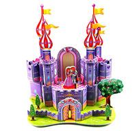 Wholesale 3D Puzzle Fancy Paper Model Types -Purple Castle
