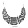 Nice quality silver plated metal choker womens statement  necklace free shippin