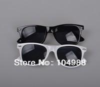 WHOLESALE FREE SHIPPING 2012 Unisex Wayfarer Sunglasses BLACK Glasss Fashion Sunshine Glasses--BLACK COLOR