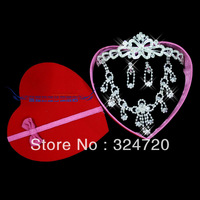 The bride jewelry set marriage accessories the bride necklace earrings rhinestone chain sets  t108 free shipping
