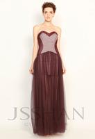 11P140 Burgundy Swarovski Crystal Strapless Haute Douture Elegant Gorgeous Luxury Unique Prom Evening Dress Short Prom Dress