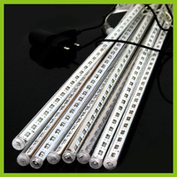 30CM 18 LED Meteor Shower Rain Tube Light Indoor Outdoor Xmas Tree 220v EU Plug Free Shipping