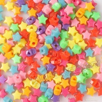 New Promotion 1800pcs/lot Star Shape Beads Colorful Plastic Loose Beads Fit European Bracelet Making 111083