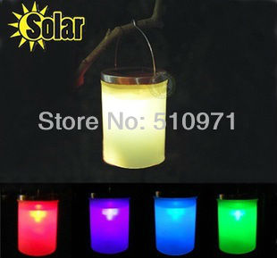 1 LED Solar Power Hanging Lanterns Light Landscape Path Light stainless steel material(four color)