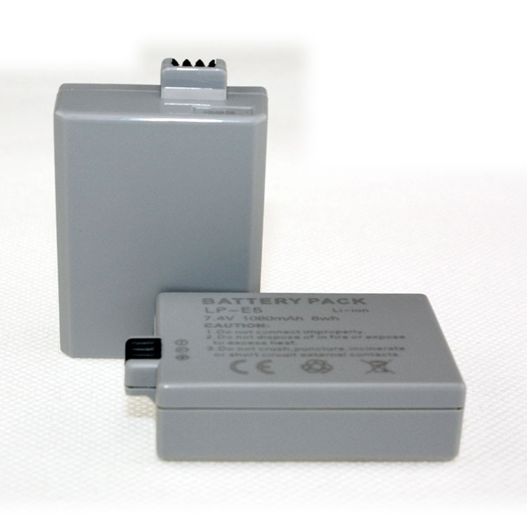 New-View 2Pcs LP-E5 LPE5 Camera Battery For canon EOS XS XSi T1i 450D 500D 1000D Free Shipping(China (Mainland))